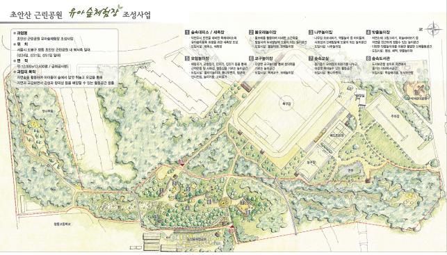 '초안산근린공원 안의 이색놀이공간'