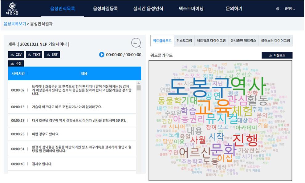 ▲ 도봉구 '디비디비맵' 홈페이지 메인 캡쳐화면 (2020. 11. 5.)
